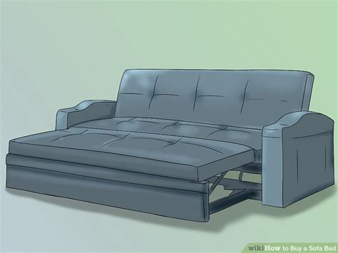 sofa bed for heavy person how to buy a sofa bed 8 steps with pictures wikihow