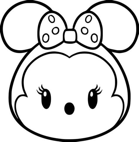 Coloriage Tsum Tsum Minnie à Imprimer