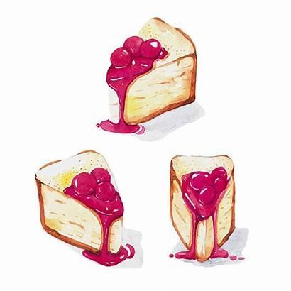 Cheesecake Clip Illustrations Mini Vector Cheesecakes Illustration