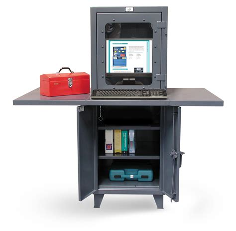 computer desk with shelf hold industrial computer workstation with welded