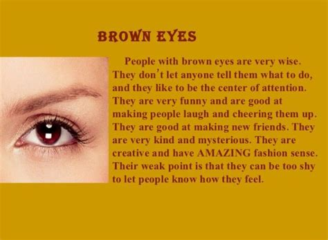 what does the color of your brown the brown eye color is much common and