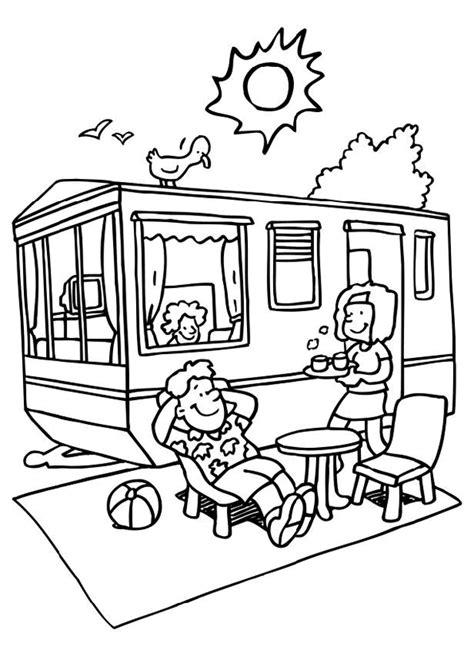 Vakantie Kleurplaat by Kleurplaat Vakantie Kleurplaten In De Sta Caravan 6458