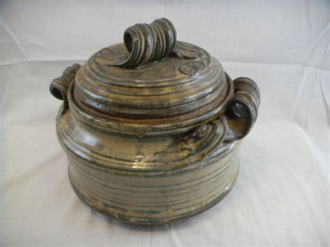 39 s pottery casserole great 1970 39 s studio pottery signed czirban casserole in