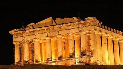 Ancient Greece Parthenon 1080p Athens Night Wallpapers
