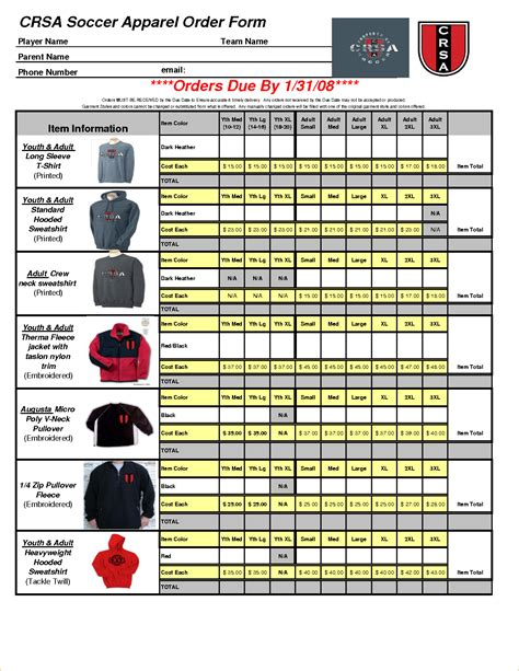 apparel purchase order form 8 apparel order form template timeline template