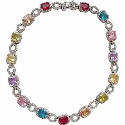 Necklace Multi Rhinestone Colored Stunning Jewelry Kayejaye
