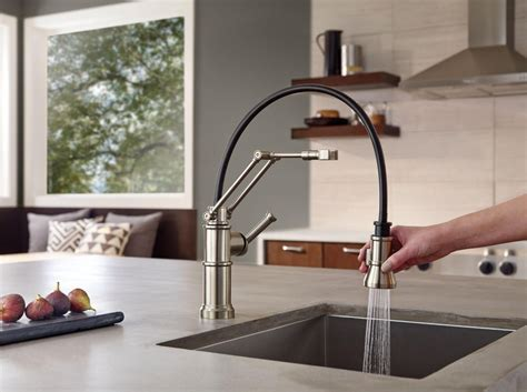 articulating arm kitchen faucet innovation a sum of parts artesso articulating faucet