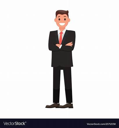 Vector Businessman Flat Character Colorful Clipart Vectors
