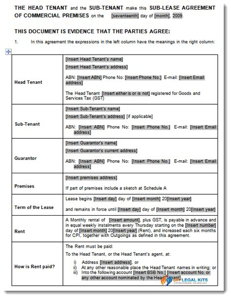 business sale contract free template vic commercial lease agreement template vic cotef info