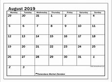 August 2019 Calendar 66MS Michel Zbinden
