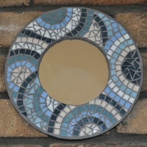 this mosaic mirror is for beginners created using
