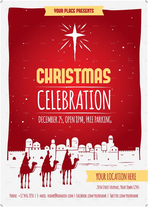 christmas celebration flyer template  meenjah
