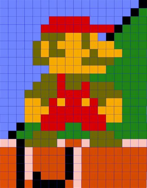 Latent Chestnut Mario Quilt Design