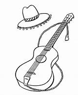Coloring Spanish Spain Guitar Harry Potter Popular Simple Niceladiesnaughtybooks sketch template