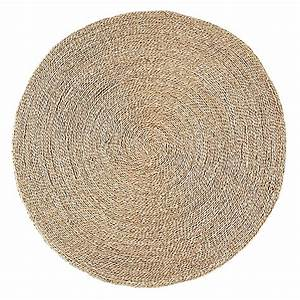 Tapis rond en jonc de mer d120cm rush text tapis for Tapis jonc de mer avec canapé 2m40