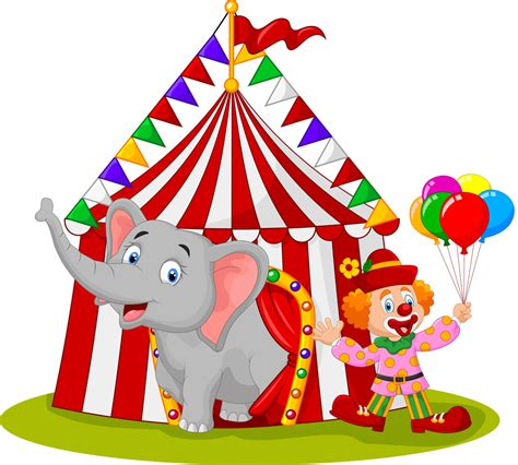 Cartoon Circus Elephant