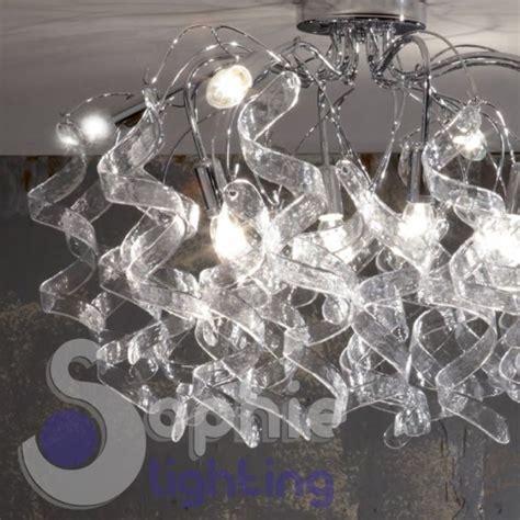 plafoniera moderna soggiorno plafoniera soffitto moderna riccioli cristallo pendenti 8
