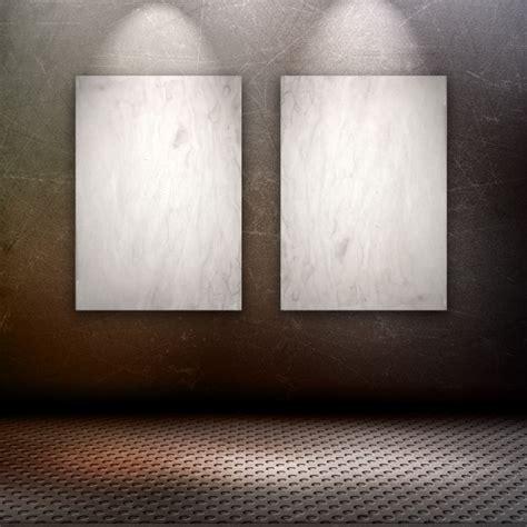 bilder an der wand 3d 252 bertragen einer grunge stil innenraum mit leeren bilder an der wand der