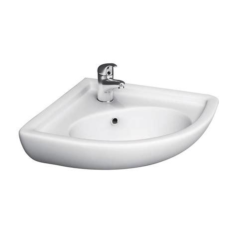 barclay products corner wall mounted bathroom sink