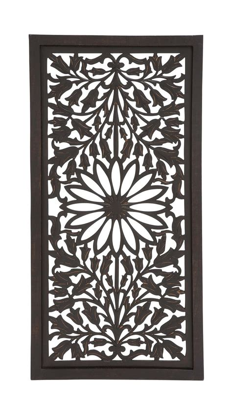 Vintage carved wood wall decor panel flowers wall art hanging gift 12 diameter. Amazing Styled Classy Wood Panel Wall Décor | Carved wood wall art, Wood panel wall decor, Wood ...