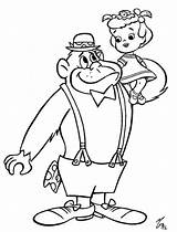 Gorilla Coloring Magilla Colouring Saturday Morning Printable Cartoon Sheet Cartoons Characters Silverback Muttley Bear Dolphin sketch template