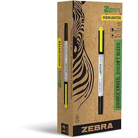 Office Depot Zebra Pens by Zebra Pen Highlighter Yellow Office Depot