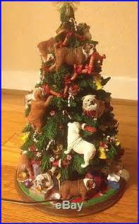 bulldog christmas tree the danbury mint vintage porcelain rare collectible