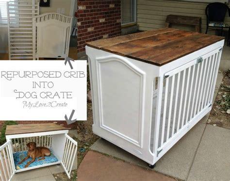 Hometalk   Repurposed Crib Dog Crate