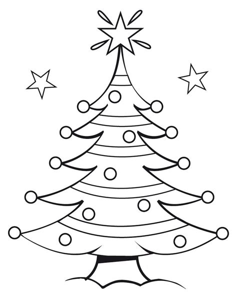 christmas picture outline tree outline clipartion