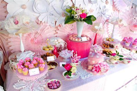 pink  white high tea bridal shower bridal shower