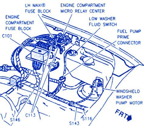 1996 Cadillac Concour Engine Diagram by Cadillac Concours Sedan 1996 Engine Fuse Box Block