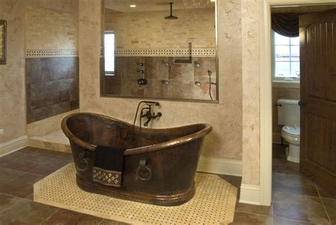 tubs aberdeen stunning copper soaking tub and walk in shower in the