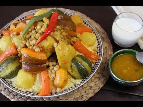 recette de couscous aux légumes couscous with vegetables