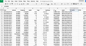 Create Org Chart In Google Sheets Spreadsheets And Earthquake Data Part 2 Of 3 Public