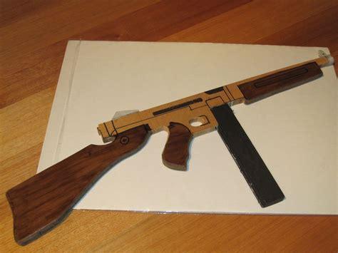 thompson  machine gun wooden toy