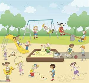 Playground Stock Illustrations And Cartoons | Getty Images