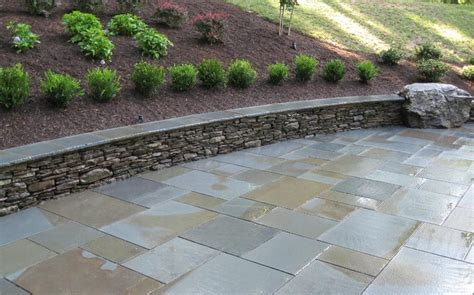 flagstone tiles for patio flagstone patio seating bench retaining wall patio pinterest the o jays patio and love the