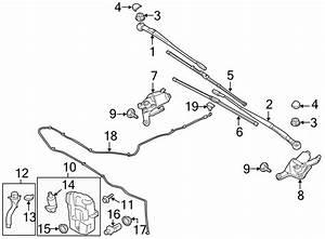 Ford Escape Windshield Wiper Motor  Make  Replace