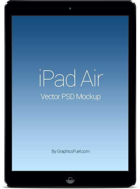 iPad Air PSD Mockup - GraphicsFuel