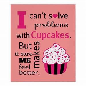 Cute Cupcake quote, Happiness Print | Zazzle