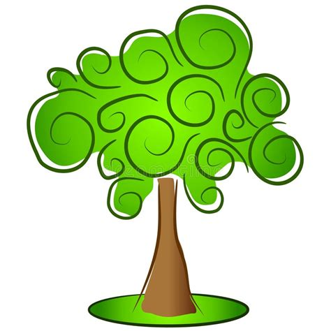 albero clipart albero isolato verde clipart illustrazione di stock