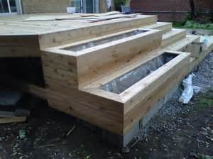 Deck Post Footings by Ground Level Deck Single Step Decks Amp Fencing