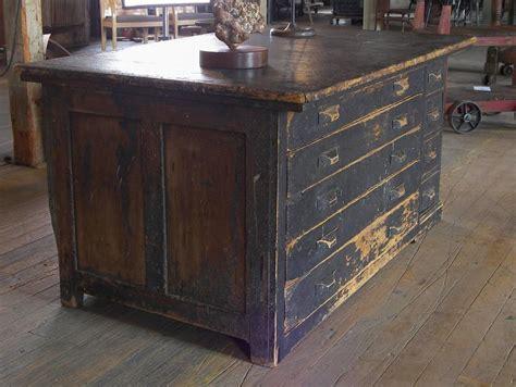 vintage industrial antique wooden printers cabinet