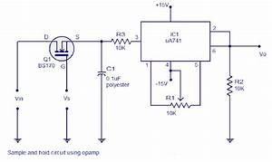 Simple And Hold Circuit Using Op Amp Circuits Wiring
