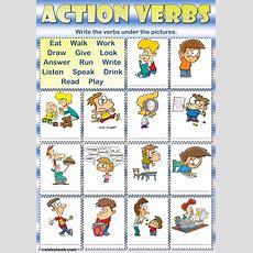 Action Verbs  Writing  Interactive Worksheet