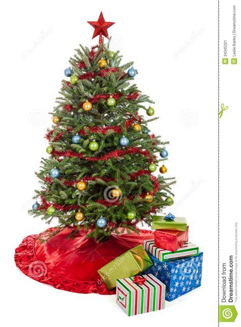christmas tree  presents stock image image