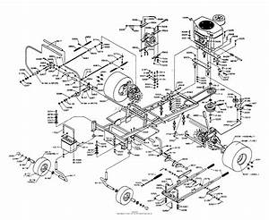 Dixon Ztr 5422  1996  Parts Diagram For Chassis Assembly