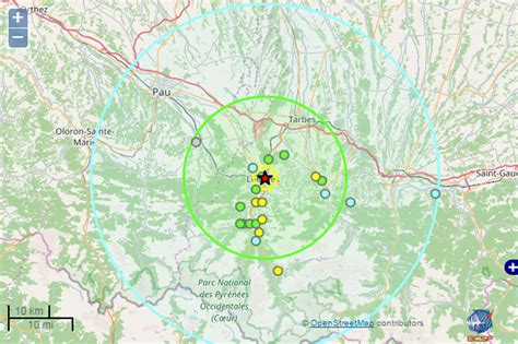 bureau central francais un séisme de magnitude 3 8 s est produit à quelques