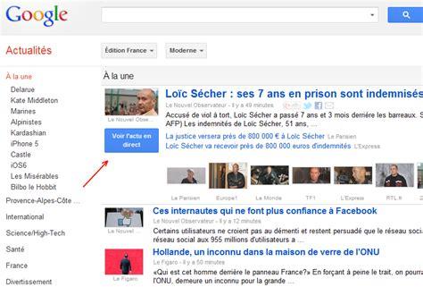 google news le bouton bleu voir lactu en direct