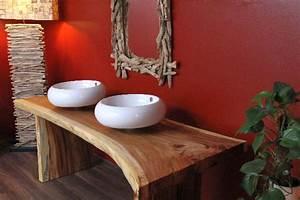 Waschtischplatte Holz Massiv : waschtisch holz massiv suar doppel waschbecken 220x87x75 ~ Yasmunasinghe.com Haus und Dekorationen